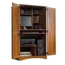 Computer Desk Armoire Oak Computer Armoires