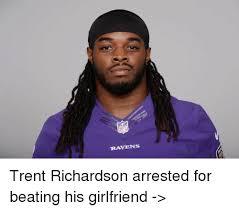 Trent Richardson Meme - ravens trent richardson arrested for beating his girlfriend