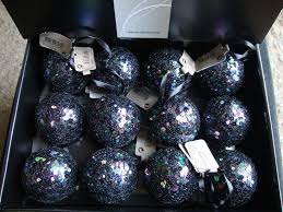 x large black sequin decorated tree baubles decorations of