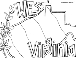 west virginia coloring page by doodle art alley usa coloring