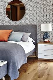 Midcentury Modern Wallpaper Wallpaper To Go With Grey Walls Best Orange Bedroom Ideas On And
