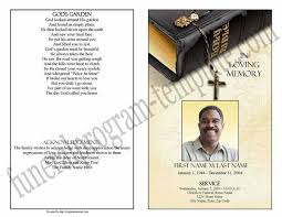 sample obituary program funeral program examples example program