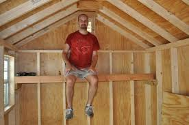 on a shelf how to build shed storage shelves one project closer