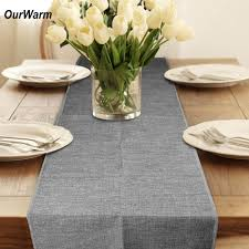 popular party table accessories buy cheap party table accessories ourwarm 10pcs linen table runner vintage home decor solid color table decoration accessories party wedding decorations