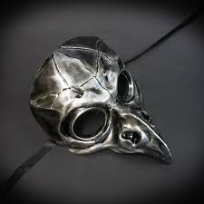 white plague doctor mask steunk mask steunk plague doctor evil bird masquerade mask