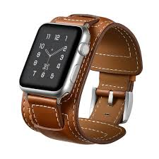leather bracelet cuff women images Elobeth for apple watch band leather women men iwatch band jpg