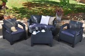 Patio Club Chair Keter Corfu Resin Armchair With Cushions All Weather Plastic