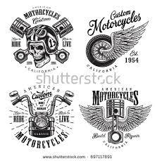vintage motorcycle typography tshirt graphics vectors stock vector
