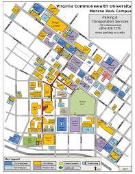 Virginia Tech Parking Map by Virginia Commonwealth University Map Virginia Map