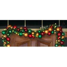 lighted christmas tree garland the ornament ball cordless prelit garland hammacher schlemmer