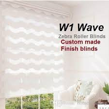 Roller Blinds Online Europe Wave Slat Zebra Roller Blinds Custom Made Finished Product