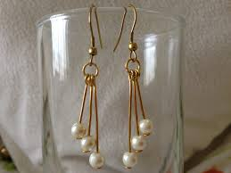 make your own earrings studs diy easy pearl earring tutorial how to make jewellery