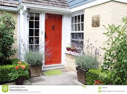 charming red front door stock photo image 56066950