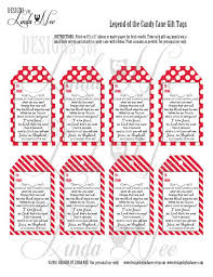 legend of the candy legend of the candy gift tag card for witnessing at christmas