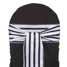 wedding chair sashes navy blue striped satin wedding chair sash 5 pk smarty had a party