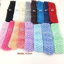 crochet bands 12pcs assorted 6colors crochet hairband elastic band newborn tutu