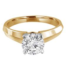 engagement rings that are not diamonds solitaire cut knife edge engagement ring setting in
