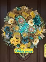 dazzling jeweled butterfly welcome burlap deco mesh wreath