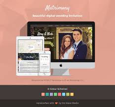 wedding invitation websites responsive wedding invitation template matrimony