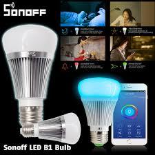 alexa controlled light bulbs sonoff b1 dimmer led bulb wifi smart remote control light bulbs led