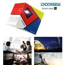 Led Tv Box Design Aliexpress Com Buy Doogee Cube P1 Smart Mini Led Projector Built