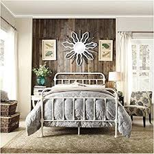 Antique White Metal Bed Frame Inspire Q Antique White Graceful Lines