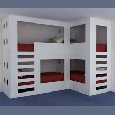 Folkestone Quadruple Bunk Beds Modern Quad Bunk Beds - Funky bunk beds uk