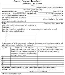christmas concert program template sample concert program