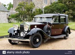 roll royce maroon 1933 rolls royce phantom ii sedanca de ville stock photo royalty