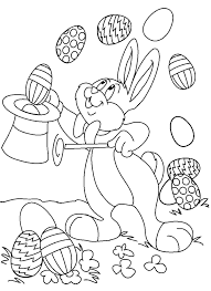bunny easter egg magic show coloring pages animal coloring pages
