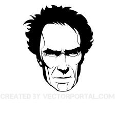 actor clint eastwood vector portrait download at vectorportal