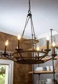 kitchen black rustic kitchen chandelier over round dining table