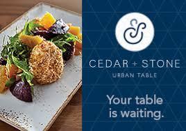 Urban Table Menu Mall Of America