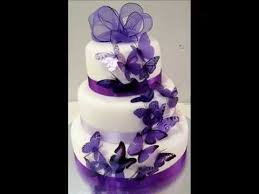 diy purple butterfly wedding cakes