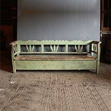 antique country pine box settle bench pew kitchen bench seat