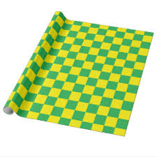 yellow wrapping paper checkered wrapping paper zazzle