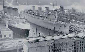 Queen Elizabeth Ii Ship by Ss Normandie And Rms Queen Mary During World War 2 Michael L