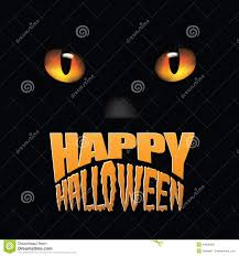 happy halloween vector happy halloween black cat eyes stock vector image 44538099