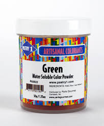 food coloring powder water soluble green pastry 1