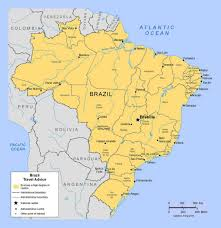 Map Of The South America by Political And Administrative Map Of Brazil With Major Cities