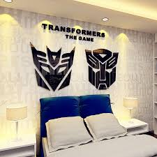 transformers bedroom usd 19 21 transformers 3d acrylic three dimensional wall stickers