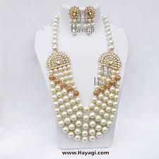 pearl setting necklace images Vilandi necklace set semi precious kundan moti mala jpg