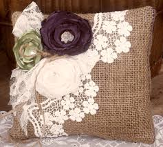 shabby chic pillow its different but i kinda like it