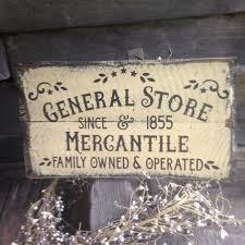 handmade sign general store mercantile primitive rustic country