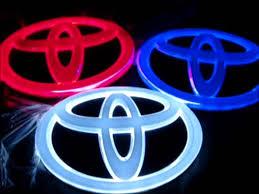 toyota camry logo car autolight emblem chrome logo www jn starry com youtube