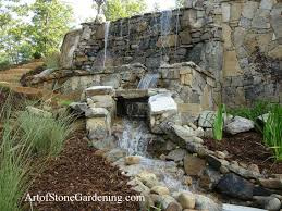 Water Features Backyard by Ponds Waterfalls Outdoor Water Features Art Of Stone Gardening