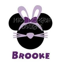 personalized easter minnie mouse disney iron decal vinyl