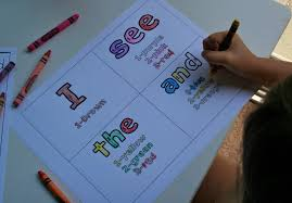 colour by number high frequency words sight word coloring page