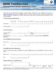 bmw application form fill printable fillable blank