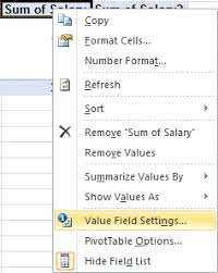 Excel 2010 Pivot Table Excel 2010 Exercise On Pivottable